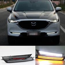For Mazda CX-5 CX5 2017-2018 LED DRL Daytime Running Light Fog Lamp Turn Signal