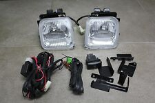 96-98 Honda Civic EK 2/3/4 dr JDM Clear Fog Light Kit Glass + Harness + Switch