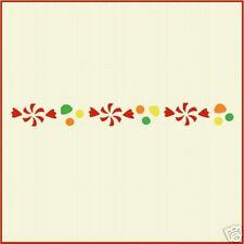 Candy Border Stencil - Christmas - The Artful Stencil