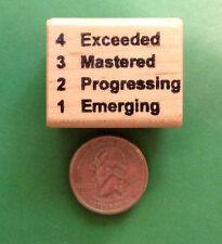 Exceeded/Mastered/Progressing/Emerging Teacher Stamp