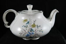 Ellgreave Tea Pot GOld Trim BLue Yellow Flowers marked 442 1