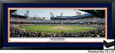 Detroit Tigers Last Pitch at Old Tiger Stadium Panoramic Photo Matted and Framed