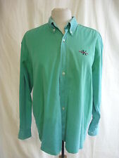 Mens Shirt - Calvin Klein Jeans, size L, green coloured, denim, fade out - 7980