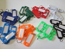 Lot of 40 Key ID Labels Tags with Key Ring Split Rings