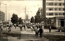 Rotterdam Ansichtskarte ~1950/60 Kruiskade Partie in der Stadt Personen Autos