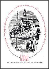 PUBBLICITA' 1949 LADAR AGENZIA TURISMO BUENOS AIRES ARGENTINA TRAVEL NAVE AEREO