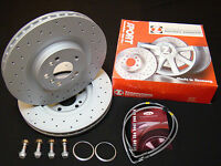 Vw Golf Mk5 Zimmermann Discs Mounting Bolts Brake Lines for 6pot Brembo Calipers