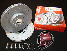 Vw Golf Mk6 Zimmermann Discs Mounting Bolts Brake Lines for 6pot Brembo Calipers