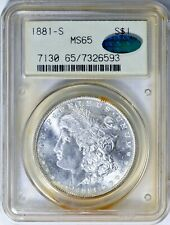 1881-S $1 MORGAN SILVER DOLLAR PCGS MS65 CAC OGH..
