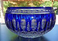 """Waterford Clarendon 6"""" Cut to Clear Cobalt Bowl!!"""