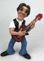 Estatua Guitarrista Mestieri Broma Idea Regalo 15CM Caricatura Músico