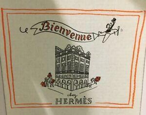 Hermes Gift Box Bienvenue Chez Hermes White Cardboard 17 cm x 15 cm x 9 cm
