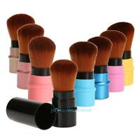 Retractable Cosmetic Brush Makeup Contour Foundation Blush Tool Portable Travel