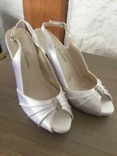 White Satin Slingback Heels size 39 uk6