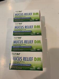 4 Boxes Mucus Relief DM Expectorant & Cough Suppressant Compare To Mucinex