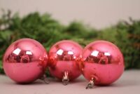 Christbaumschmuck Weihnachtskugeln rosa 3 Stk alt Deko alt Set Weihnachten