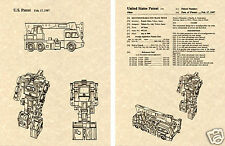 Transformers HOOK Patent Art Print READY TO FRAME!! G1 Devastator Nissan Crane