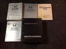 1990 HONDA ACCORD Service Shop Repair Manual SET W Body Book & ETM Parts Catalog