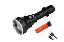 Acebeam L19 PM1 WHITE LED Flashlight -1650 Lumens 1300 meter throw w/ Free 20A 2