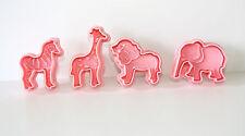 Animale Zoo Pasticceria, Sugarcraft Estrattore Cutter 4 frese in Confezione Decorazione Torte