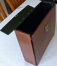 "Vintage Record Carry Storage Case Box LPs Crockadile 1970s Albums 25 x 12"" Retro"