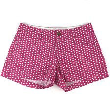 Old Navy Womens 2 Shorts Pink White Shell Chino Low Rise Seashell Beach Summer