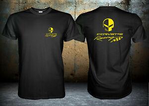 Chevrolet Corvette Racing Jake Skull Yellow Logo, Racing Unisex T-Shirt S-3XL