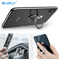 RAXFLY 360 Finger Grip Metal Ring Stand Holder Bracket For Smart Phone Tablet