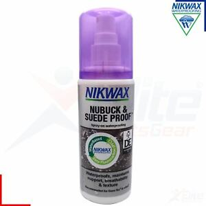 Nikwax Nubuk and Suede Proof Waterproofing Care for Boots Shoes 125ml