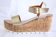 New AMY Women Wedge Cork Sandal Shoes T Strap Flip Flop  by VICTORIA ADAMES