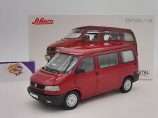 """Schuco 00420 # VW Bus T4b Westfalia Camper Baujahr 1990 """" dunkelrot """" 1:18 NEU"""