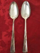 Revelation ll Silverplate 11 Piece Set Teaspoon Soup Spoon Rose Scroll Silver Plate 1953 Vintage International