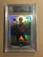 2014 DEREK CARR TOPPS CHROME REFRACTOR ROOKIE RC BGS 9 MINT #115 RAIDERS