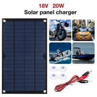 18V 20W USB Solar Panel  Power Bank Outdoor Camping Hiking Battery Charger
