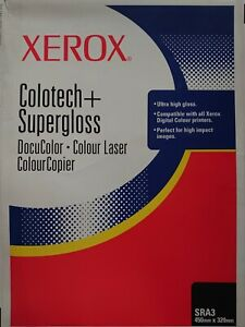 Xerox Colortech+ A4 SUPERGLOSS Paper 250gsm 003R97278 White 31 Sheets *FAST DISP
