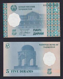 Tajikistan  5 dirams 1999  FDS/UNC  B-09