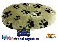Lazy Bones Paw Print Fur Oval Cushion Ideal For Plastic Dog Beds