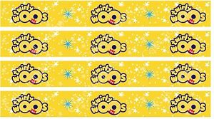 """4 x 1"""" Edible Icing Twirlywoos Cake Toppers Uncut Strips FAB FOR RIBBONS"""