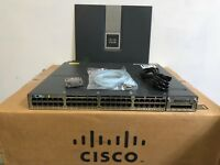 CISCO WS-C3750X-48PF-L 48-Port Gigabit Layer 3 Switch POE+ 3750X-48PF-E License