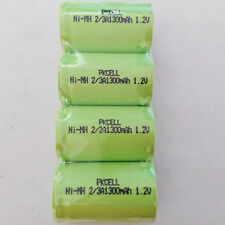 4PC x CR123A 2/3A Rechargeable Battery Nimh 1300mAH Flat Top No tabs PKCELL