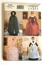 VOGUE CRAFT 7039 UNCUT Pattern Colonial Historical Costumes 11.5 Doll Linda Carr