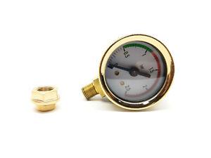 La Pavoni  Gold Pressure Gauge Kit With Nut For Europiccola Ø 41mm 0-2.5 bar