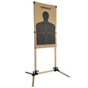 Adjustable Target Stand for Paper Silhouette Shooting Targets USPSA IDPA -1 Pack
