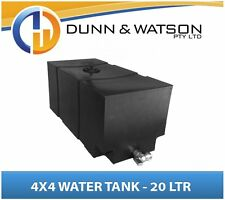 4x4 4wd Water Storage Tank, Pump Bottle (20L) Black PVC Ute Tray Truck Trailer