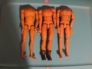 """Action Figure Lot 1/6 12"""" of Three Bodies with No Heads One Wears Brown Boots"""