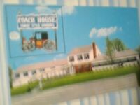 VINTAGE POST CARD  AERIAL VIEW COACH HOUSE FAMILY DINNERS STRONGSVILLE OHIO