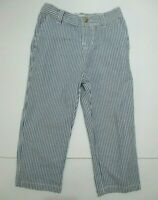 BOYS RALPH LAUREN BLUE STRIPED SEERSUCKER DRESS PANTS SIZE 24 MONTHS