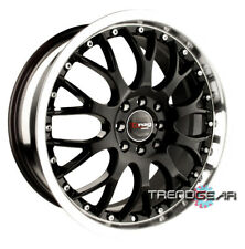 17 DRAG DR19 BLACK WHEEL RIM ECLIPSE 3000GT IMPREZA WRX