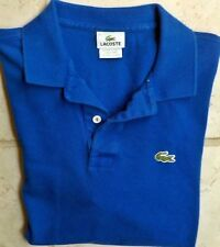 LaCoste Crocodile Logo S/S Polo Shirt Size: 6 ...Large Blue