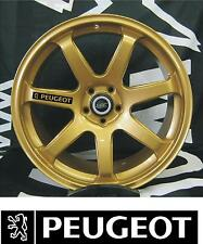 PEUGEOT 6x ALLOY WHEEL DECAL STICKERS GRAPHICES CHOICE OF COLOURS FAST DISPATCH